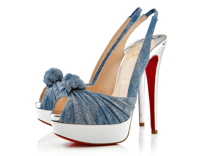 Christian Louboutin Made In Denim Footwear Picks Denim