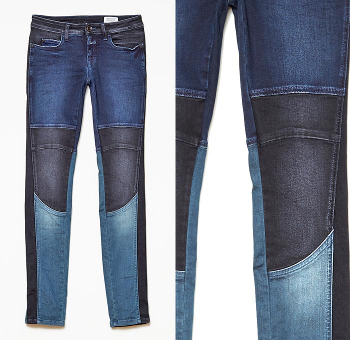 Closed Arizona Skinny Patchwork Biker Womens Denim Jeans | Denim