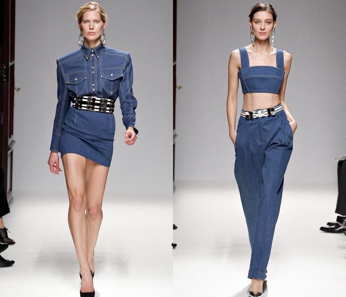 2013 Spring Summer Womens Runways Denim Denim Jeans
