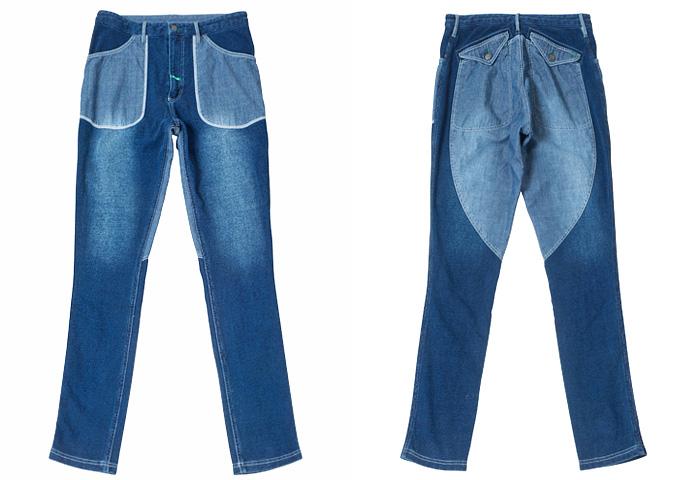 Inhabitant Japan Mens Knit Denim Sweatshirt Parka & Pants   Denim ...