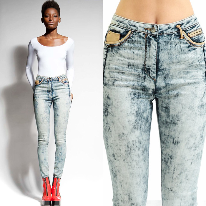 Jena.Theo Acid Wash High Waisted Denim Jeans | Denim Jeans Fashion ...