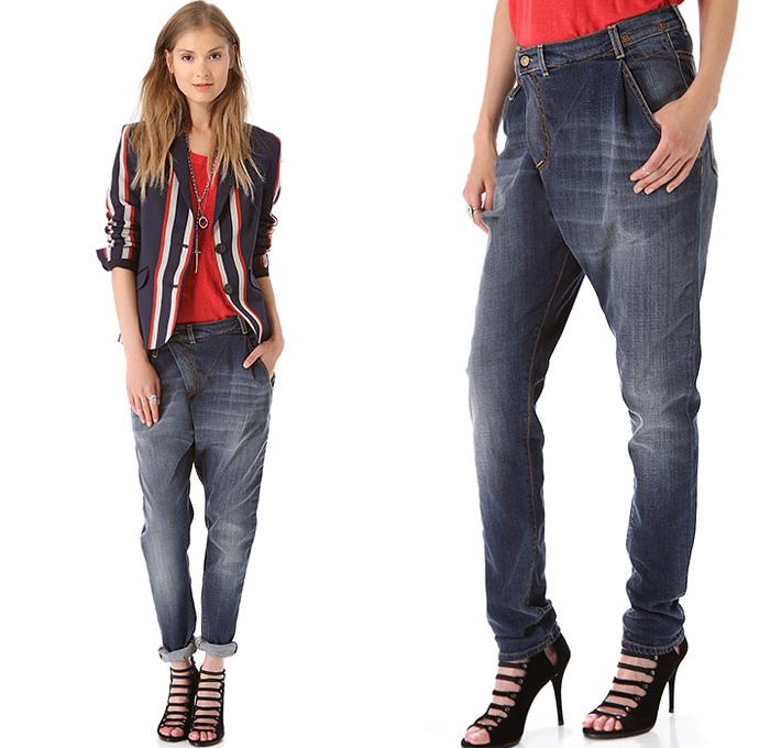 R13 Denim Womens Crossover Slouchy Boyfriend Jeans Denim Jeans Fashion Week Runway Catwalks